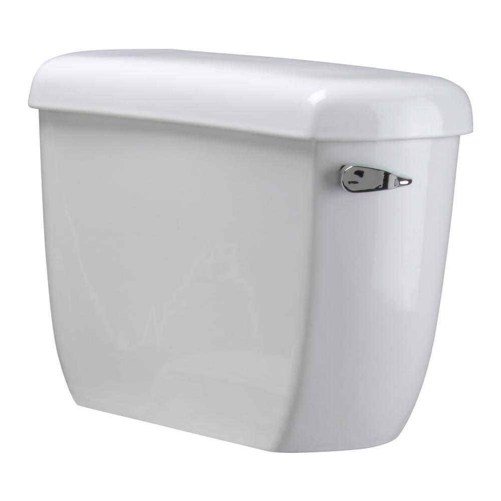 Zurn 1 28 GPF, STD Height, Elongated, Siphon Toilet Tank Only with  Right-hand Lever