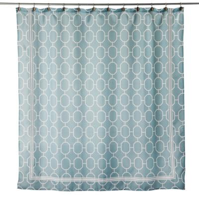 Lithgow 72 In Aqua Shower Curtain