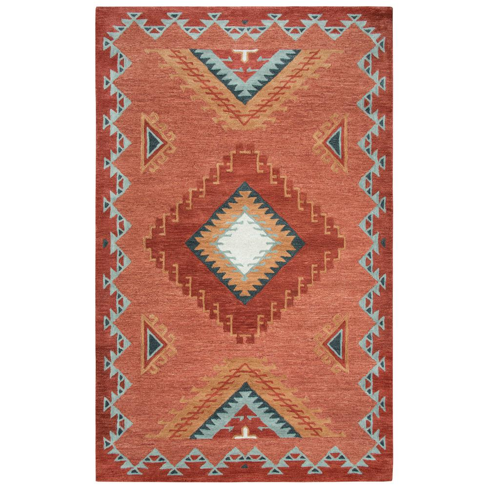 Rizzy Home Mesa Red Multicolor Southwestern 10 Ft X 13 Ft