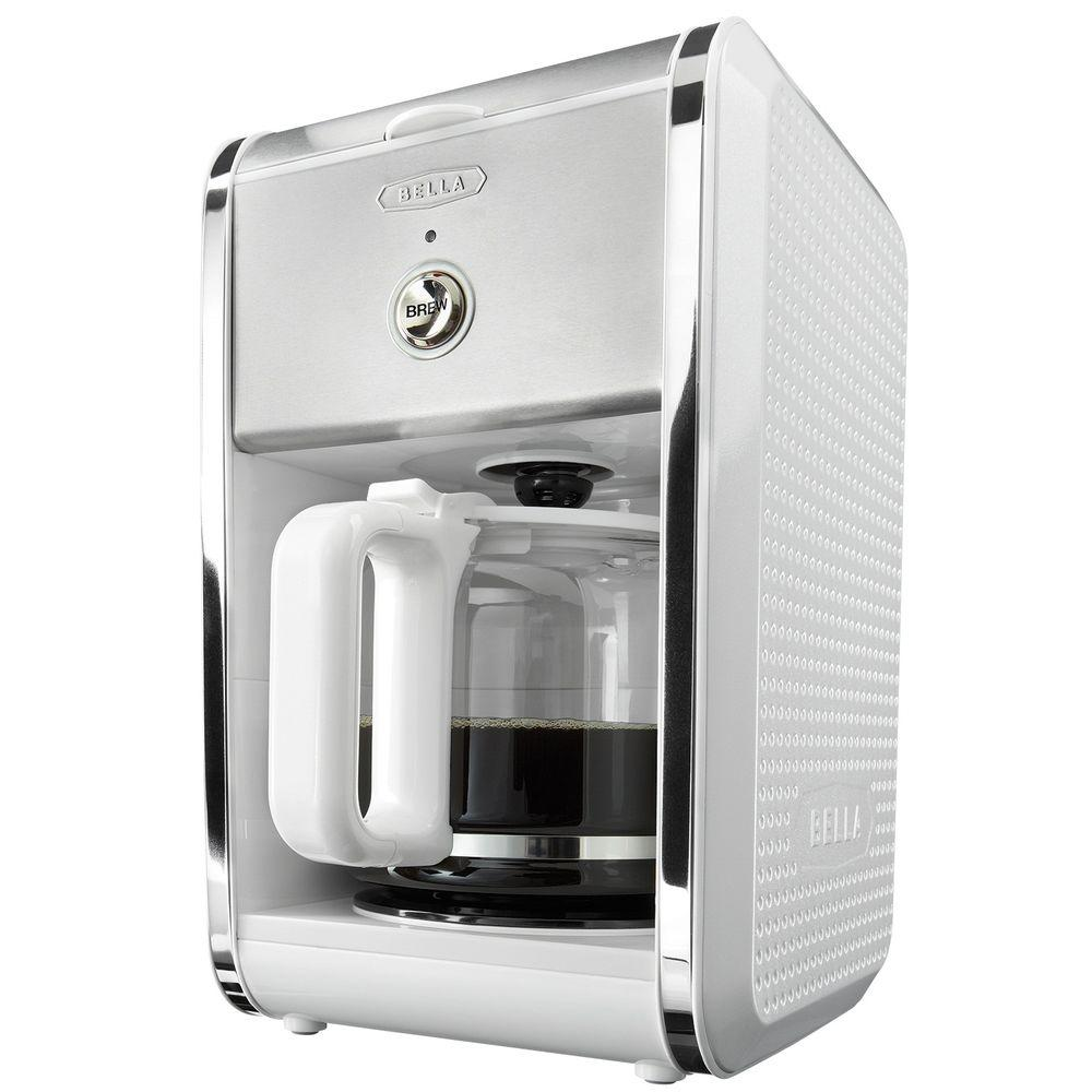 Bella Dots 12-Cup Switch Coffee Maker in White