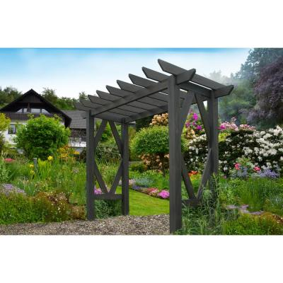 85 in. x 130.50 in. Wood Craftsman Arbor