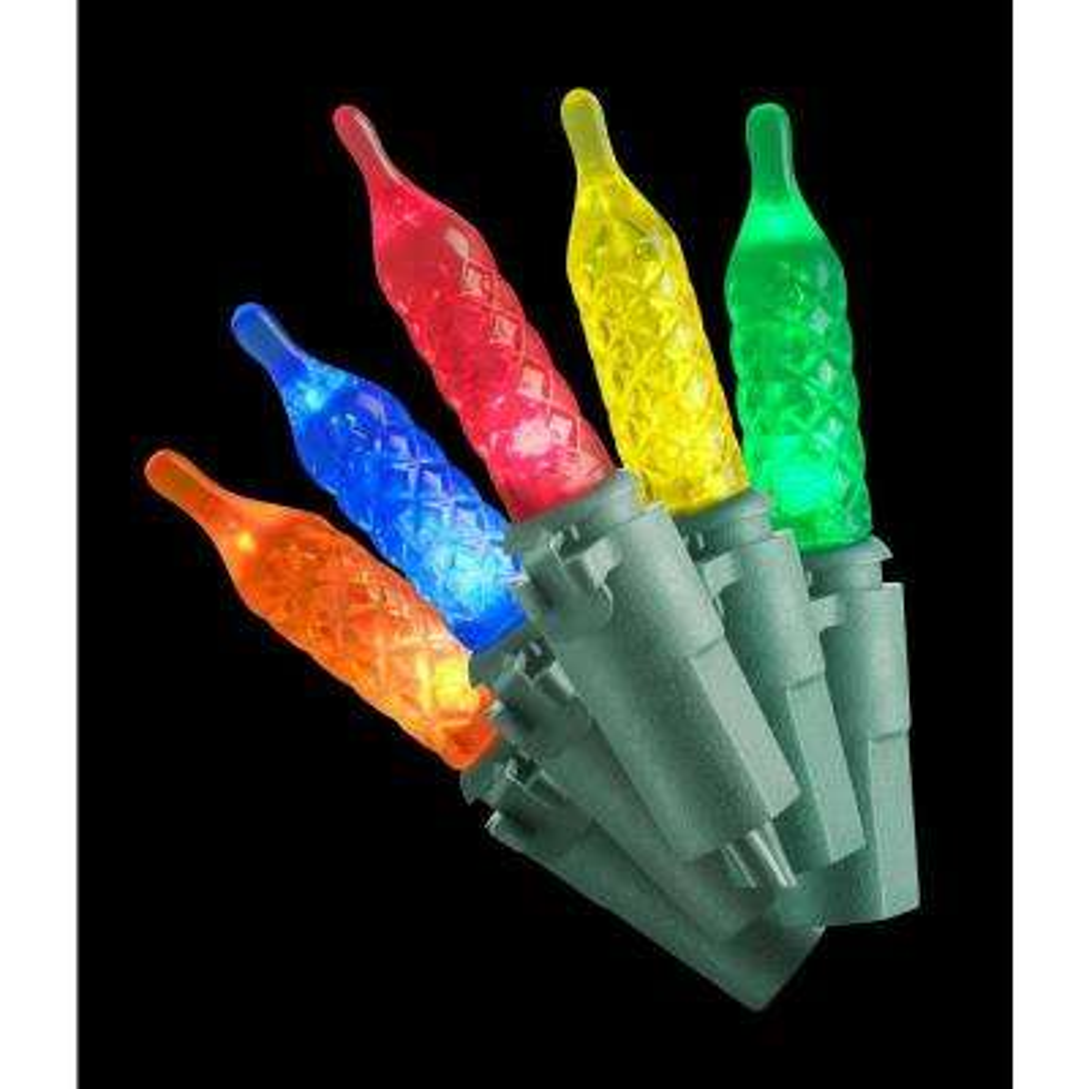 70 ft. 200-Light LED Multi-Color Faceted Lights
