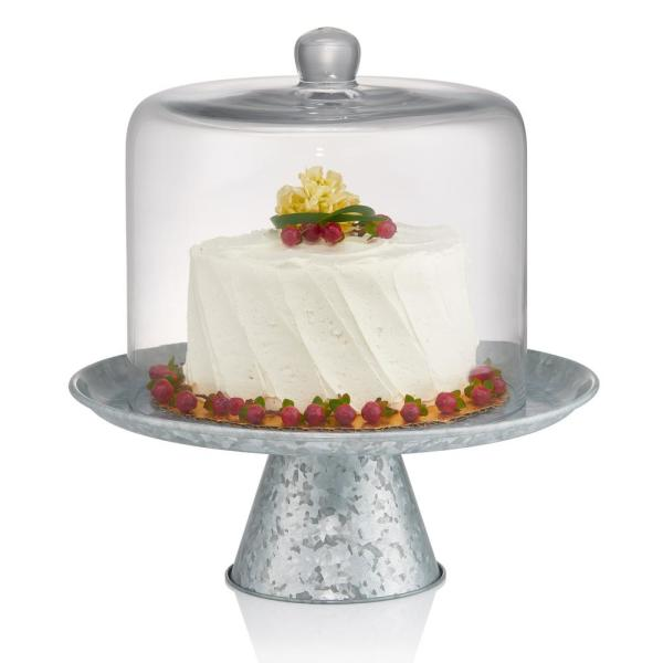 undefined 8 in. Dia Cake Dome with Galvanized Stand 10 in. High