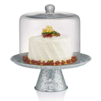 8 in. Dia Cake Dome with Galvanized Stand 10 in. High