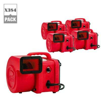 1/4 HP Mini Air Mover for Water Damage Restoration Carpet Dryer Floor Blower Fan in Red (384-Pack)