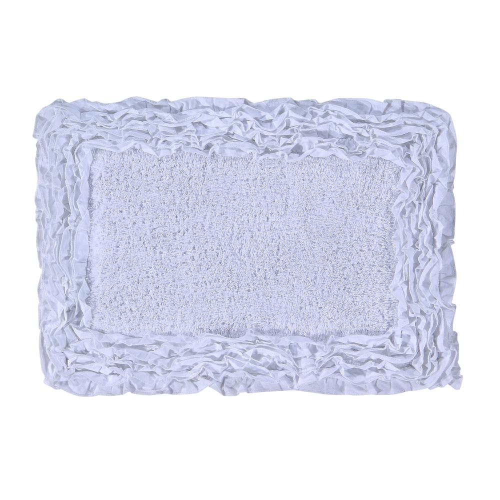 Better Trends Jaquard Bath Rug White 20 In X 60 In