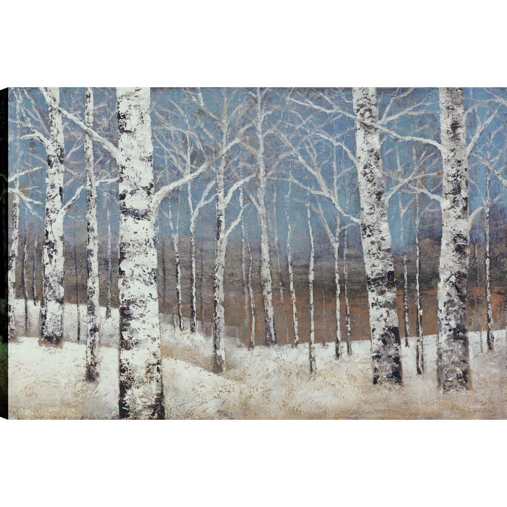 Birch Blues, Landscape Art,  Canvas Print Wall Art Dcor 24X36 Ready to hang by ArtMaison.ca