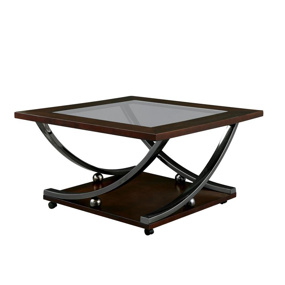 Furniture of America Karin Brown Cherry Coffee Table