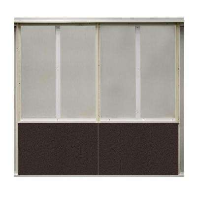 20 sq. ft. Coffee Bean Fabric Covered Bottom Kit Wall Panel