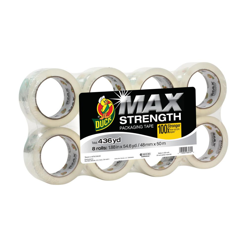 MAX Strength 1.88 in. x 54.6 yds. Packing Tape Refill, Clear