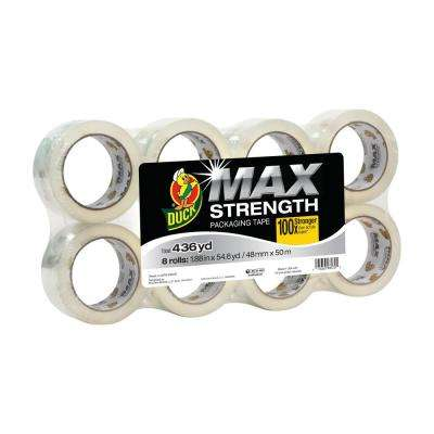 MAX Strength 1.88 in. x 54.6 yds. Packing Tape Refill, Clear (8-Pack)
