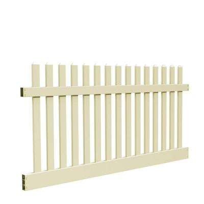 Kettle Straight 4 ft. H x 8 ft. W Sand Vinyl Un-Assembled Fence Panel