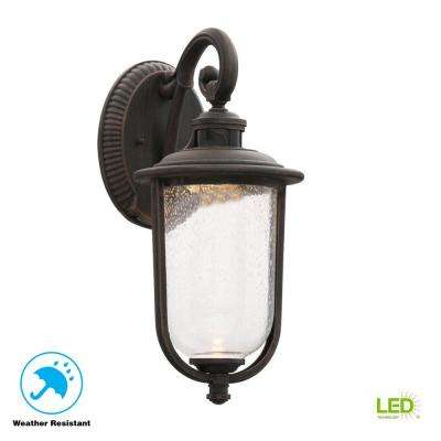 Perdido Rust Outdoor LED Motion Sensor Wall Mount Lantern