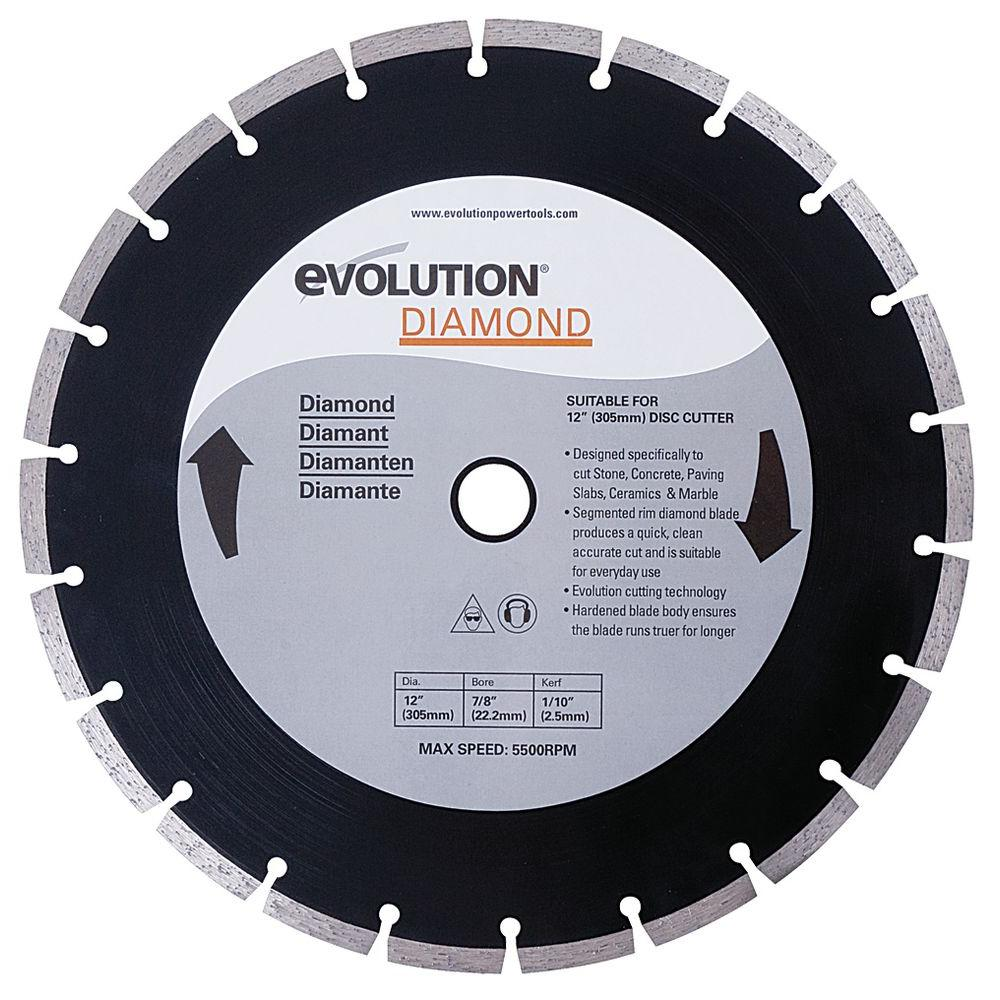 Evolution power tools 12 in diamond masonry blade 12bladedm the diamond masonry blade keyboard keysfo Image collections