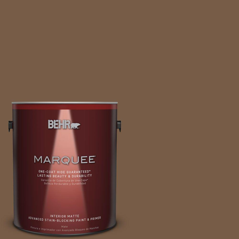 1 gal. #N250-7 Mission Brown One-Coat Hide Matte Interior Paint