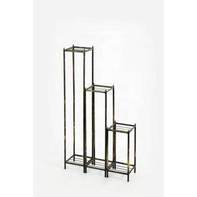 Cast Iron Gray Stone Slab Plant Stands (Set of 3)