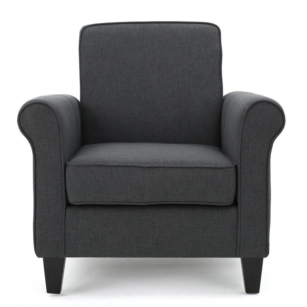 Freemont Dark Grey Fabric Upholstered Club Chair