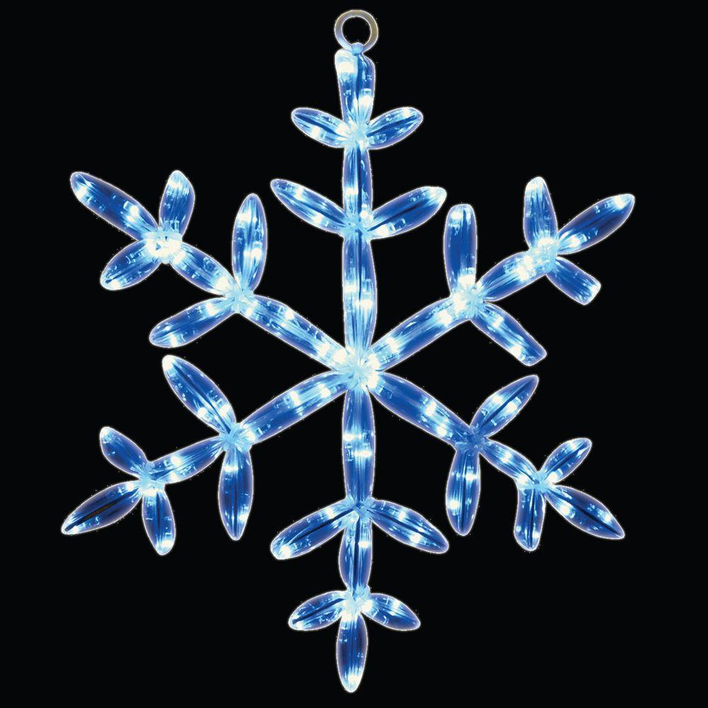 18 in. 24 LED White Snowflake Tube Light