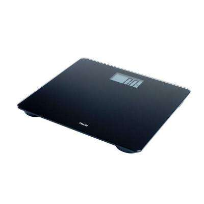 330 lb. Digital Glass Top Bathroom Scale in Black