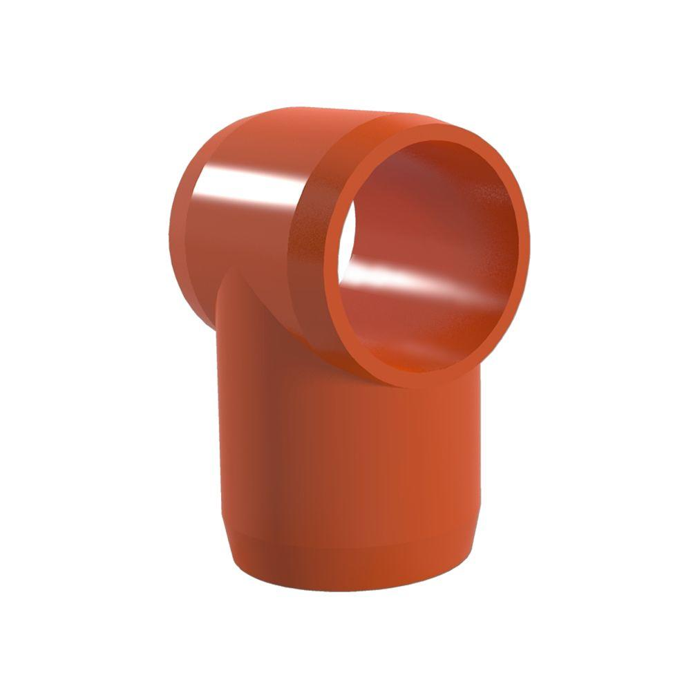 1/2 in. Furniture Grade PVC Slip Sling Tee in Orange (10-Pack)