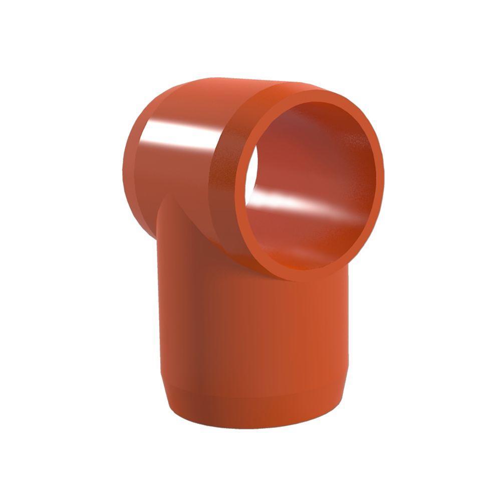 3/4 in. Furniture Grade PVC Slip Sling Tee in Orange (8-Pack)