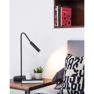 Spotlight 22 in. Matte Black Table Lamp