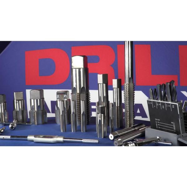 T//A Series Drill America 11//16-11 High Speed Steel Bottoming Tap
