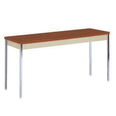 36 in. H x 72 in. W x 36 in. D Heavy Duty Steel Meeting/Activity Table in Putty/Medium Oak