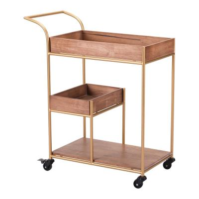 Bar Brown Cart With Tray