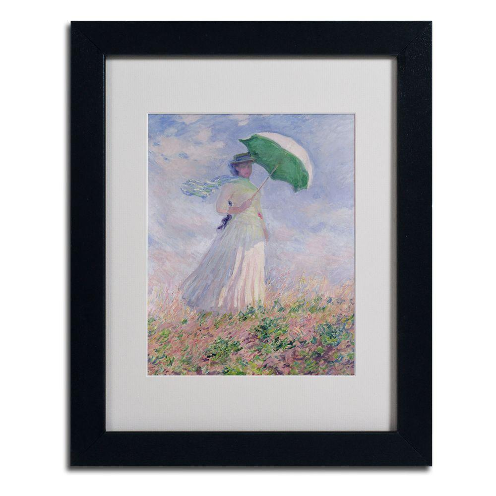 Trademark Fine Art 11 in. x 14 in. Woman with a Parasol Matted Black Framed Wall Art