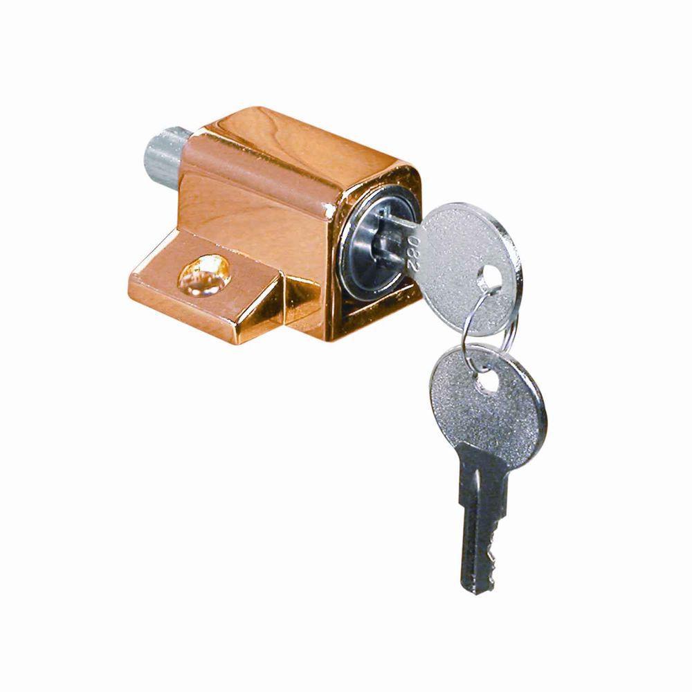 Prime-Line Brass Keyed Wood Sash Window Lock