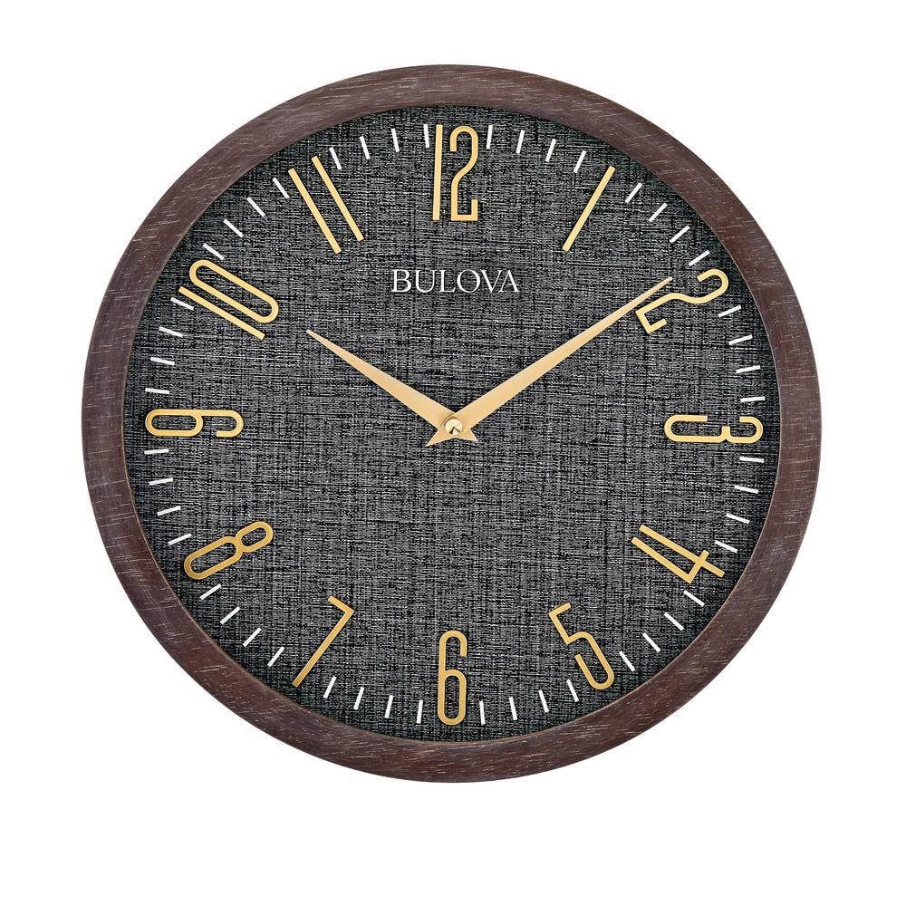 Understated Modern 13 in. Wall Clock in Espresso Hardwood Case