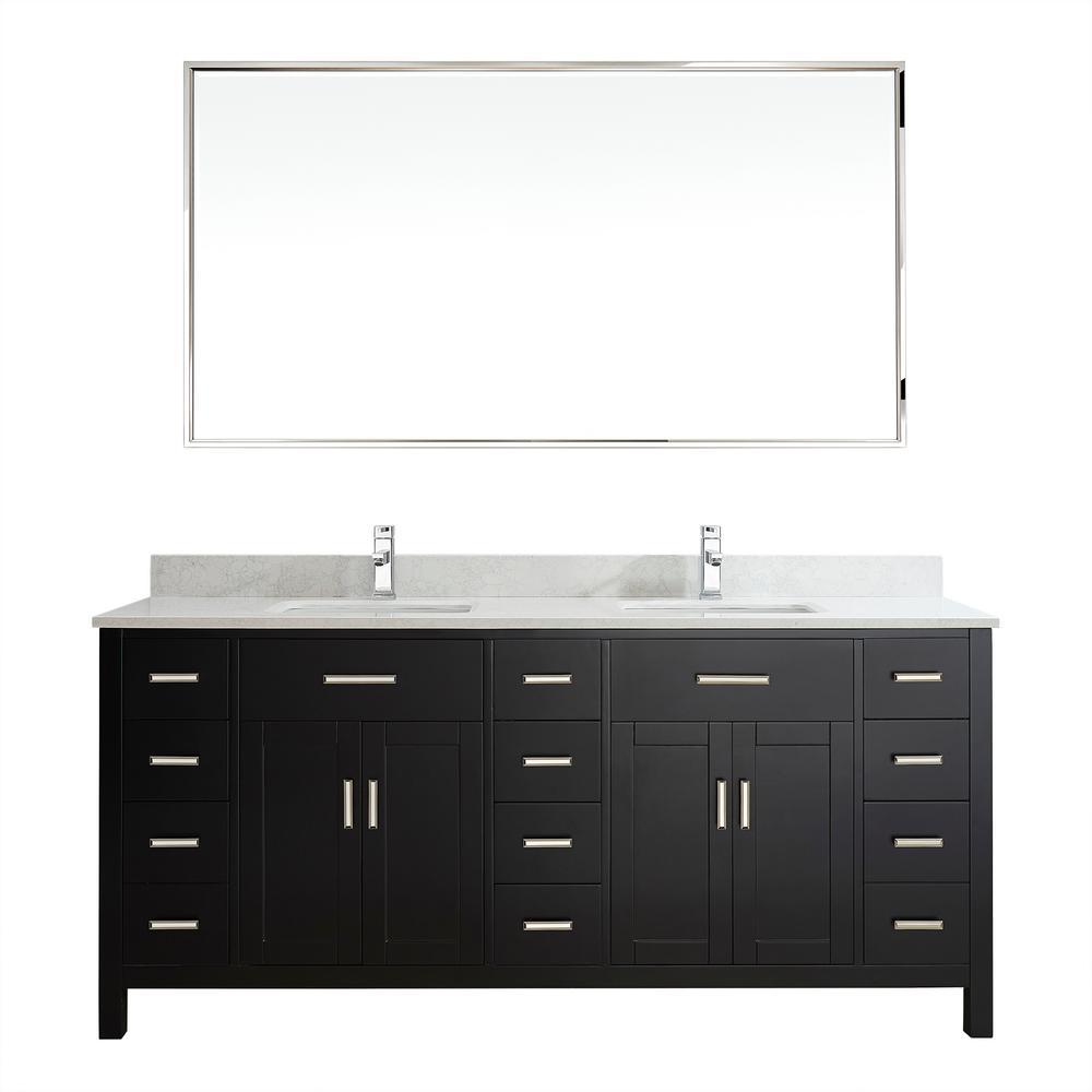 vanity double sink top. D Vanity in Espresso with Thin 48 Inch Vanities  Double Sink Bathroom Bath The