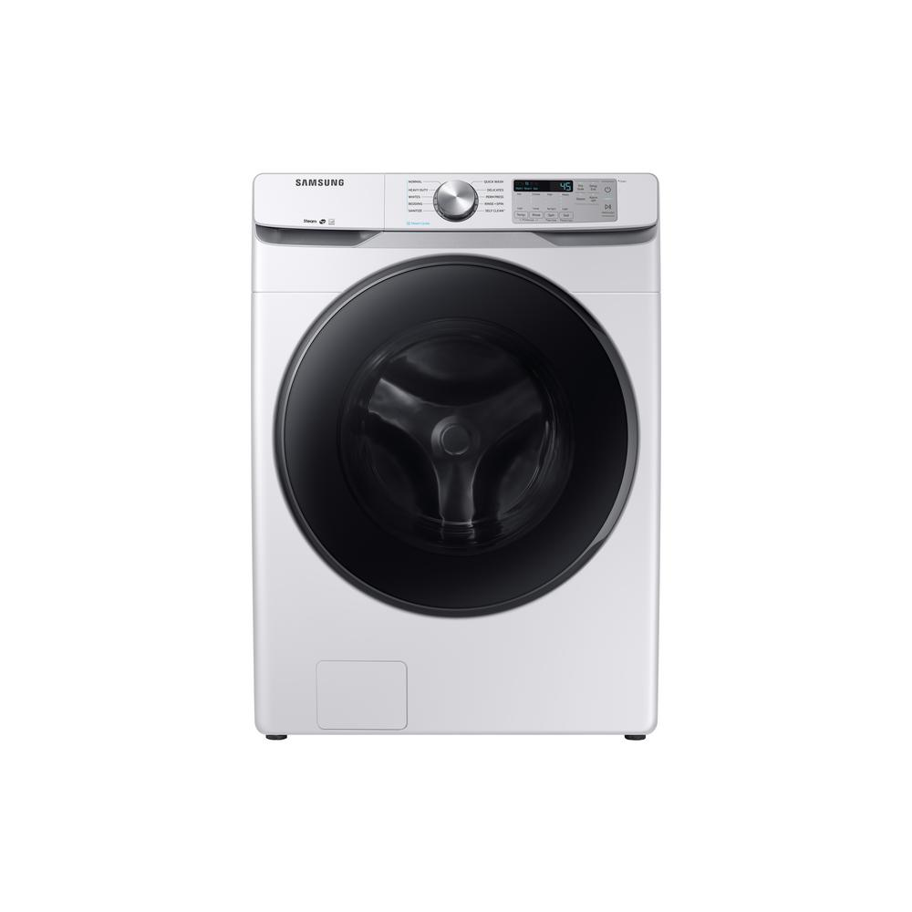 4.5 cu. ft. High-Efficiency White Front Load Washing Machine with Steam,