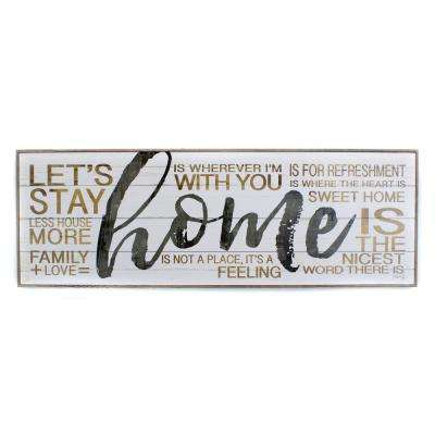 "37 In. W x 13 In. H ""Home"" by Penny Lane Framed Printed Wall Art"