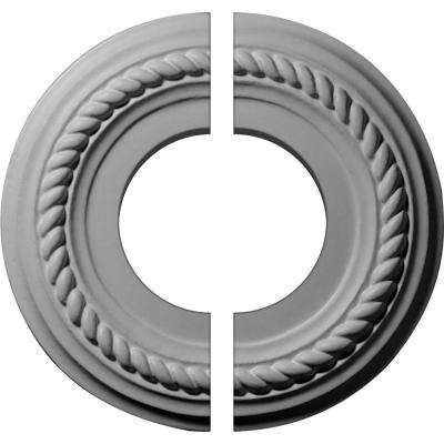 7-7/8 in. O.D. x 3-1/2 in. I.D. x 3/4 in. P Alexandria Ceiling Medallion (2-Piece)