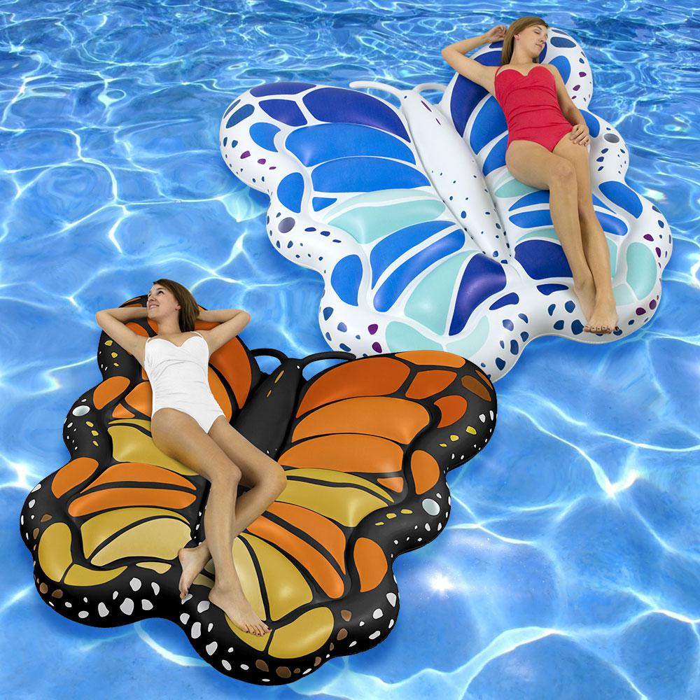 Swimline Monarch and Blue/Green Giant Butterflies Pool Float Combo Pack