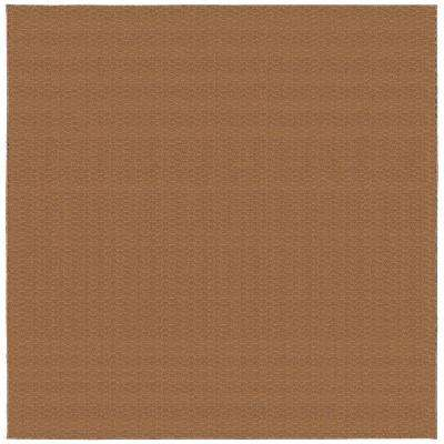 Medallion Pecan 12 ft. x 12 ft. Square Area Rug