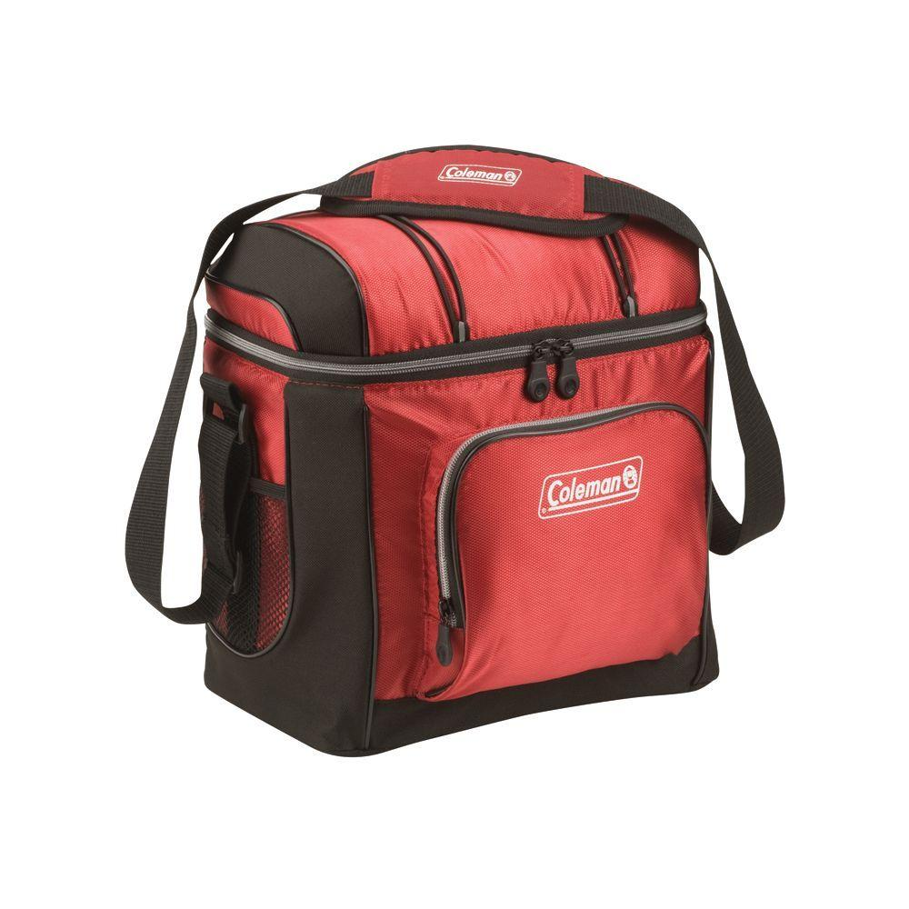 Coleman 16-Can Red Soft-Sided Cooler with Liner