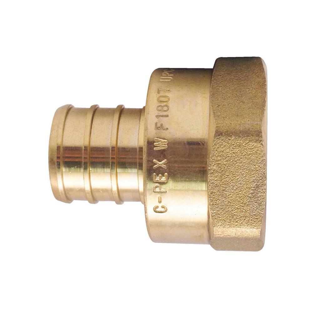 1 in. Brass PEX Barb x 1 in. Female Pipe Thread Adapter