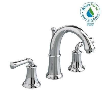 Portsmouth 8 in. Widespread 2-Handle High Arc Bathroom Faucet with Speed Connect Drain in Polished Chrome