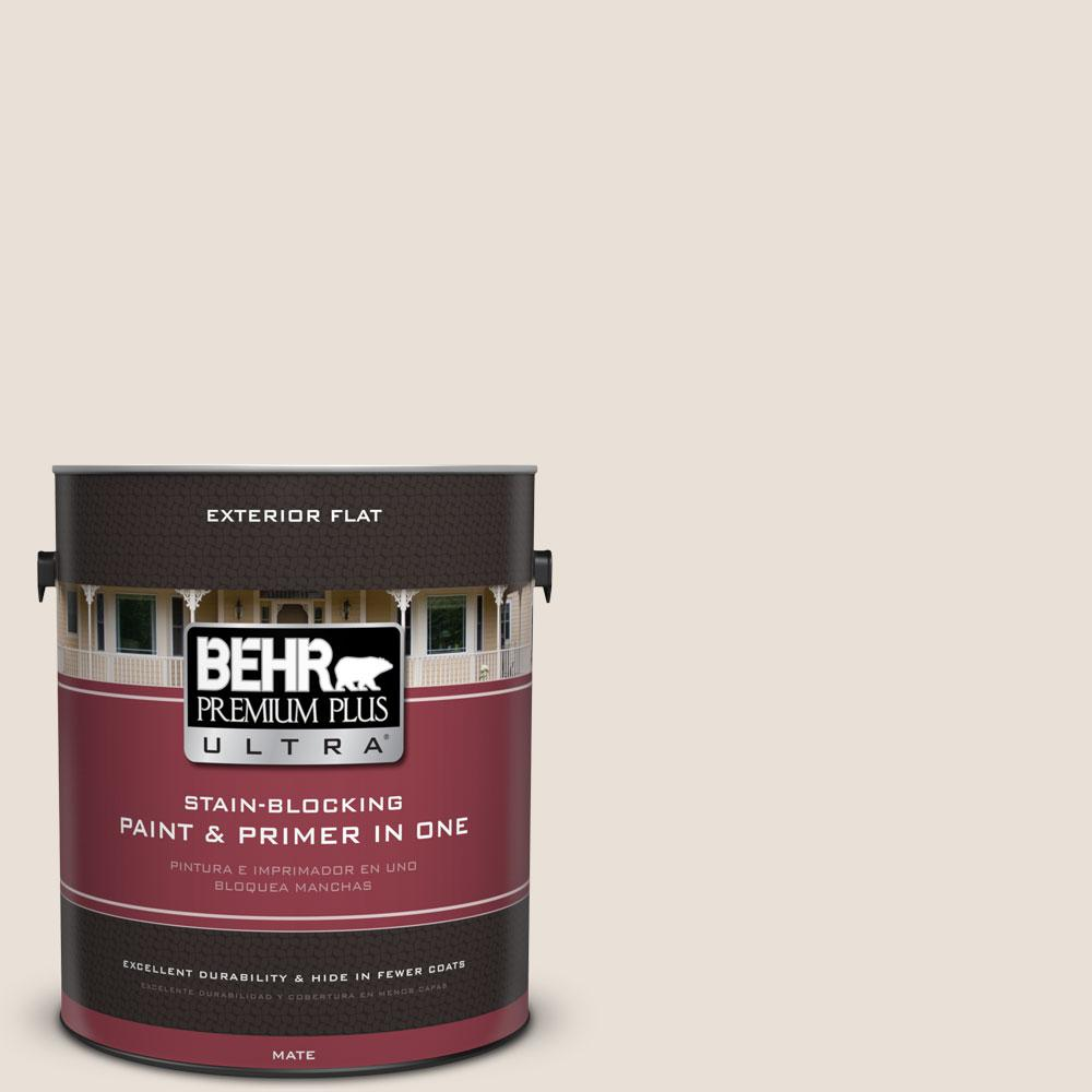1-gal. #730C-1 White Clay Flat Exterior Paint