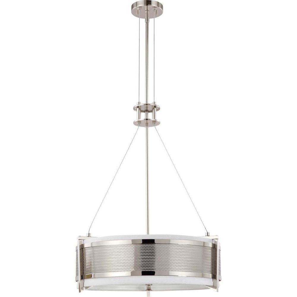 4-Light Polished Nickel Incandescent Ceiling Pendant