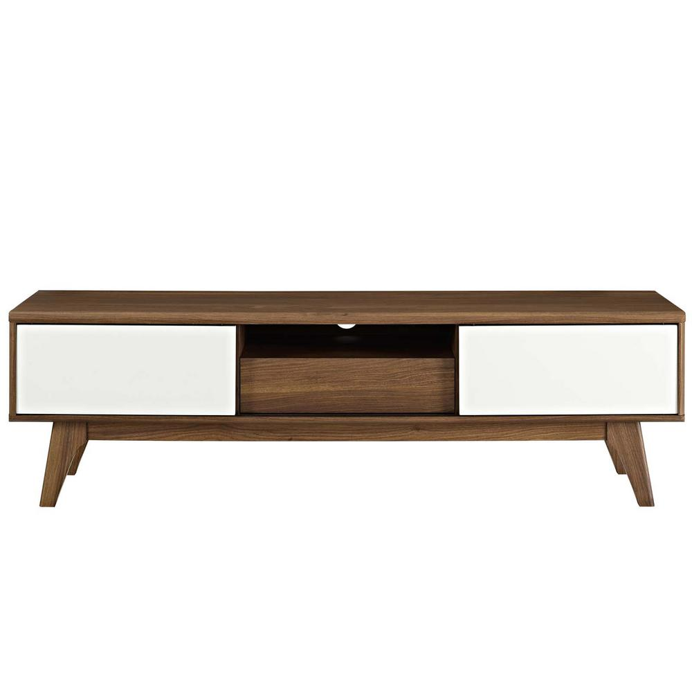 Envision 59 in. Walnut White TV Stand
