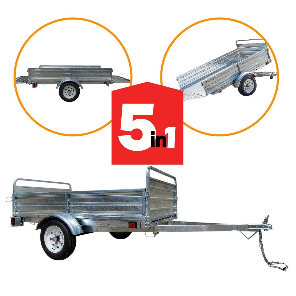 1639 lbs. Payload Capacity 4.5 ft. x 7.5 ft. Galvanized Steel