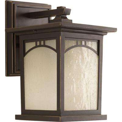 Residence Collection 1-Light Antique Bronze LED Wall Lantern