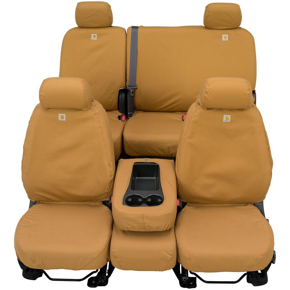 Seat Covers For Trucks >> Covercraft Carhartt Seat Saver 2nd Row Custom Fit Seat Cover Brown Fits Double Cab 60 40 Split Bench Seat