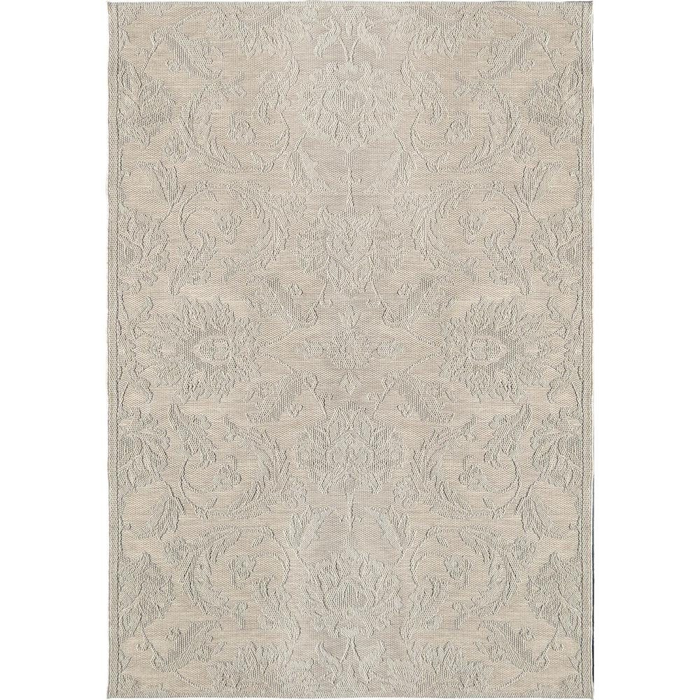 Orian Rugs Vines of Texture Ivory 7 ft. 7 in. x 10 ft. 10 in ...