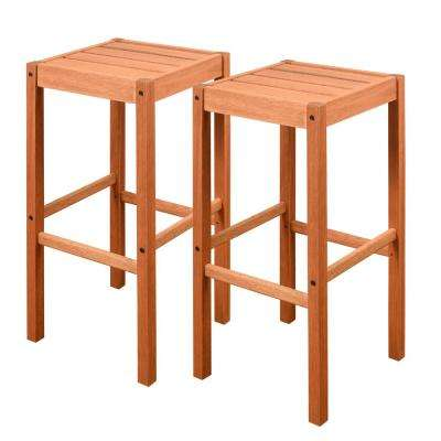 Eden Wood Outdoor Bar Stool (2-Pack)