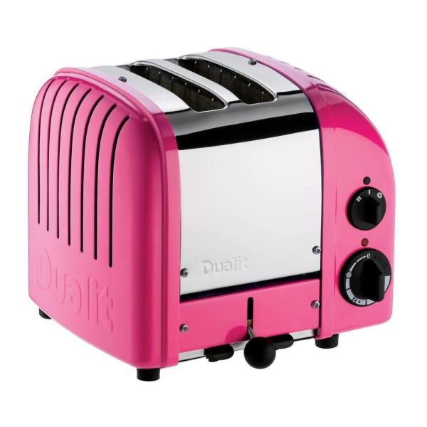 Dualit New Gen 2-Slice Chilly Pink Wide Slot Toaster with Crumb